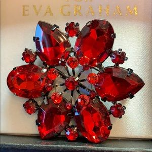Ruby Red Broach